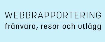 HR-webben - Rapportera frånvaro, resor och utlägg