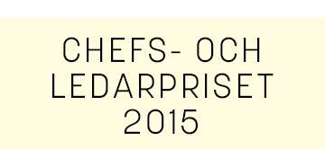 Chefs och ledarskapspriset 2014