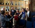 Bild: Jessica Gidby på rundvandring på Groningen University, NL. Foto: Privat