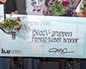 Bild: Presentcheck som delades ut på chefsdagen. Foto: Magnus Johansson