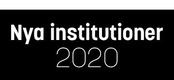 Nya institutioner 2020