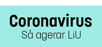 Coronavirus - så agerar LiU