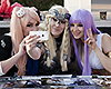 Three NärCon participants take selfie. Photo: Emma Andersson