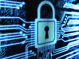 Picture of lock in cyberspace